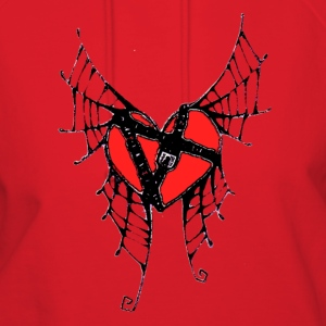 webbed winged heart with locket - Women's Hoodie