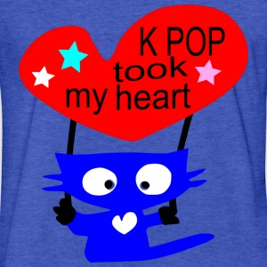 kpop took my heart txt kitty cat vector - Fitted Cotton/Poly T-Shirt by Next Level