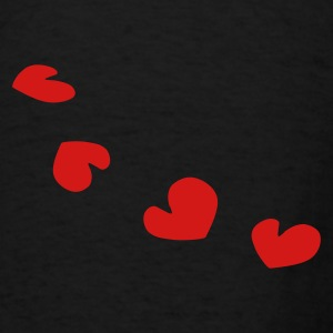 unique hearts pattern love vector - Men's T-Shirt
