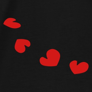 unique hearts pattern love vector - Men's Premium T-Shirt