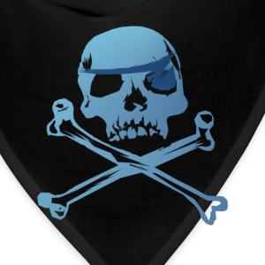 Blue Pirate Skull And Crossbones - Bandana