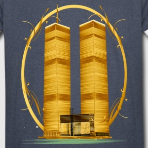 Gold Twin Towers  Hoodies - Vintage Sport T-Shirt