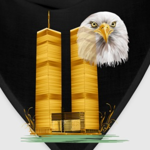 Twin Towers in Gold and Eagle - Bandana