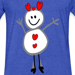 cute smiley xmas deer vector art - Fitted Cotton/Poly T-Shirt by Next Level