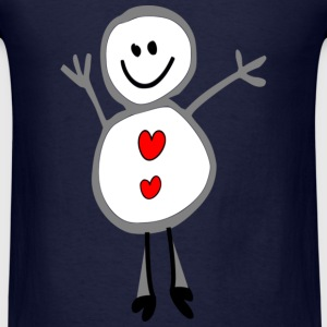 smiley snowman  season holidays vector art - Men's T-Shirt