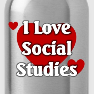 I love social Studies - Water Bottle