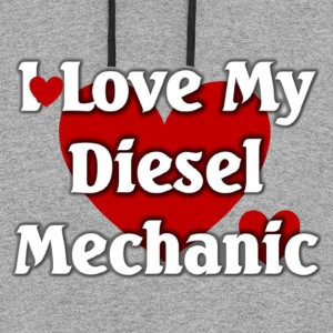 I love my Diesel  mechanic - Colorblock Hoodie
