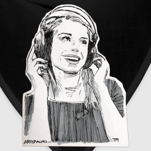 Girl Headphone Sketch T-Shirts - Bandana