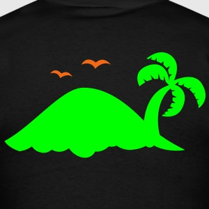 remote island with birds Long Sleeve Shirts - Men's T-Shirt