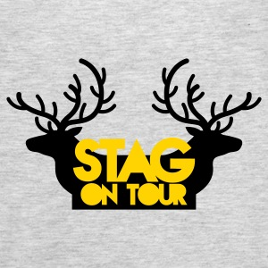 BACHELOR stag on tour with reindeer stags Long Sleeve Shirts - Men's Premium Tank