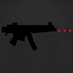 digital gun firing rectangle bullets Long Sleeve Shirts - Men's Premium Tank