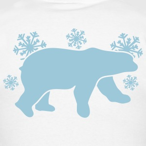 polar bear winter with snowflakes Long Sleeve Shirts - Men's T-Shirt