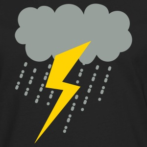 raincloud lightning strike rain storm T-Shirts - Men's Premium Long Sleeve T-Shirt
