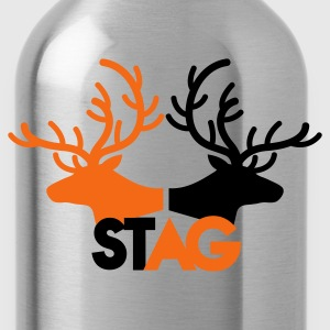 STAG double stag two reindeer  T-Shirts - Water Bottle