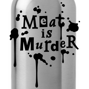 Meat is Murder! - vector T-Shirts - Water Bottle