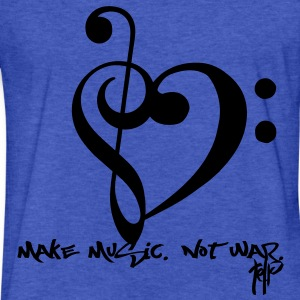 Make Music. Not War. Sweatshirts - Fitted Cotton/Poly T-Shirt by Next Level