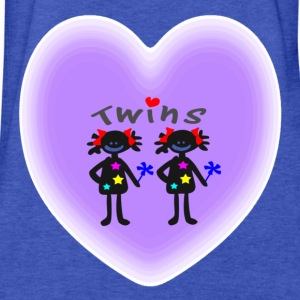 Cute twin girls hearts vector art  Kid's Hooded Sweatshirt - Fitted Cotton/Poly T-Shirt by Next Level