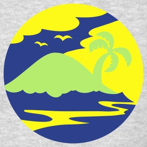 awesome island in a circle Holiday!!! Long Sleeve Shirts - Men's T-Shirt