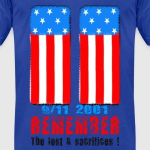 Remember the lost n sacrifices 9-11 2001 Hoodies - Men's T-Shirt by American Apparel