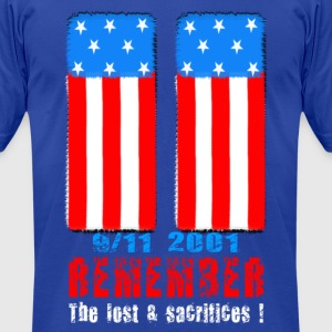 Remember the lost n sacrifices 9-11 2001 white Hoodies - Men's T-Shirt by American Apparel