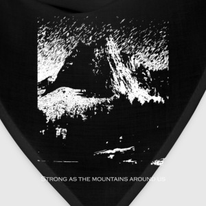 Strong As the Mountains T-Shirts - Bandana