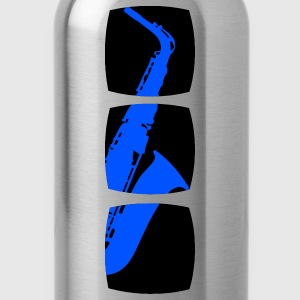 Saxophone musician motif  T-Shirts - Water Bottle