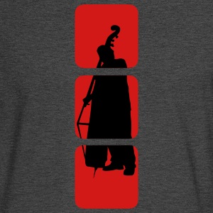 double Bass shows you double bassist, musician, musical instruments bass motif Bank.  T-Shirts - Men's Long Sleeve T-Shirt