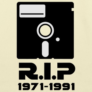 5.25 inch floppy Rest in Peace RIP death Retro Nerd Geek T-Shirts - Eco-Friendly Cotton Tote