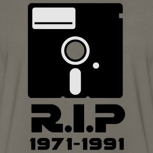 5.25 inch floppy Rest in Peace RIP death Retro Nerd Geek T-Shirts - Men's Premium Long Sleeve T-Shirt
