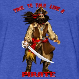 Time To Talk Like A Pirate - Fitted Cotton/Poly T-Shirt by Next Level
