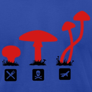Mushrooms, psilocybin food killing flies Hoodies - Men's T-Shirt by American Apparel