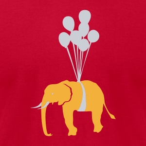 Red Floating Elephant  Sweatshirt - Men's T-Shirt by American Apparel