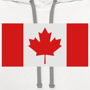 Flag Canada (2c)++ Polo Shirts - Contrast Hoodie