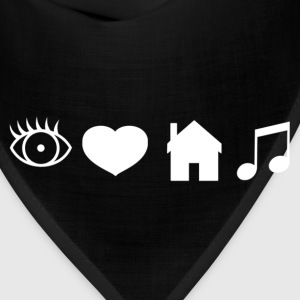 Eye Heart House Music (White Design) - Bandana
