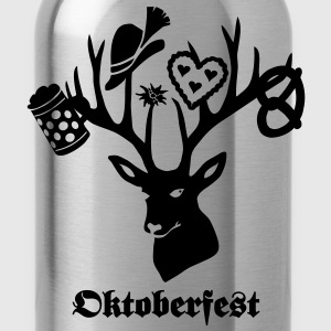 t-shirt oktoberfest bavaria munich germany stag party beer pretzel T-Shirts - Water Bottle