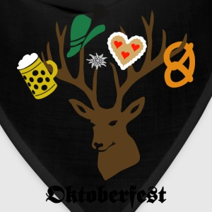 t-shirt oktoberfest bavaria munich germany stag party beer pretzel T-Shirts - Bandana