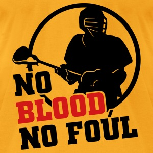 No Blood No Foul (lacrosse) Bags  - Men's T-Shirt by American Apparel