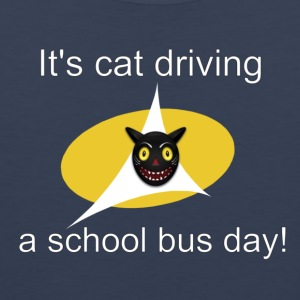 its cat driving a school bus day! t shirt - Men's Premium Tank