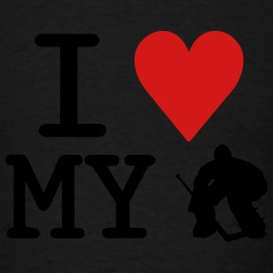 I Love My Goalie (hockey) Hoodies - Men's T-Shirt