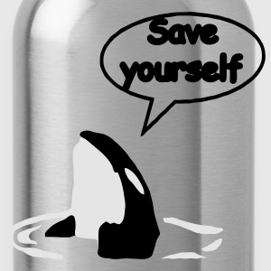 Save Yourself  / save the whales Hoodies - Water Bottle