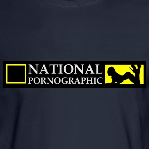 National Pornographic Hoodies - Men's Long Sleeve T-Shirt