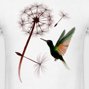 Dandelion an Little Green Hummingbird - Men's T-Shirt