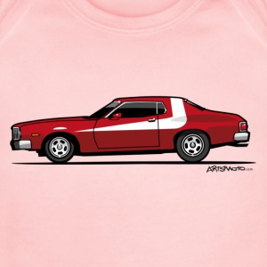 Gran Torino Striped Tomato Red Undercover Cop Car Sweatshirts - Short Sleeve Baby Bodysuit