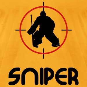 Sniper (hockey) Bags  - Men's T-Shirt by American Apparel