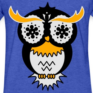 A psychedelic Owl Sweatshirts - Fitted Cotton/Poly T-Shirt by Next Level