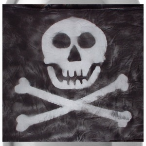 Spraypainted Jolly Roger. - Water Bottle