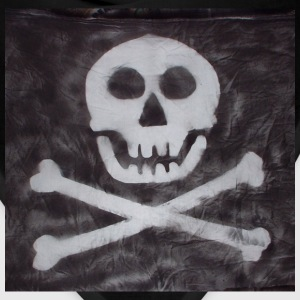 Spraypainted Jolly Roger. - Bandana