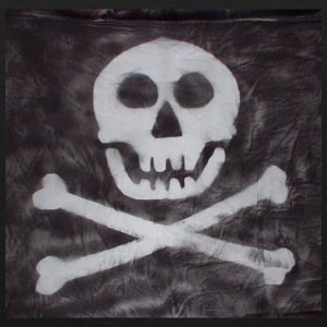 Spraypainted Jolly Roger. - Men's Premium Tank