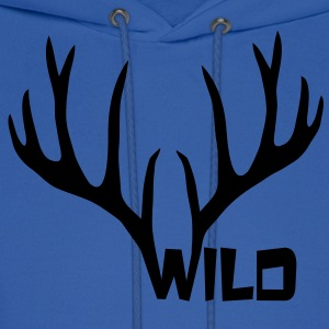wild stag deer moose elk antler antlers horn horns cervine hart bachelor party night hunter hunting Women's T-Shirts - Men's Hoodie
