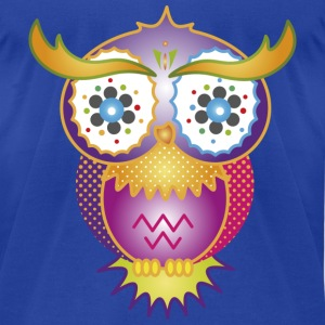A psychedelic owl Hoodies - Men's T-Shirt by American Apparel